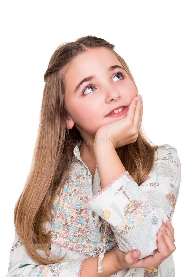 Stående av lite flickan royaltyfria foton