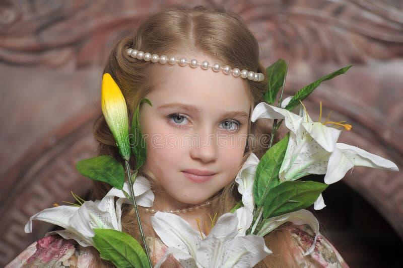 Stående av lite prinsessan royaltyfri foto