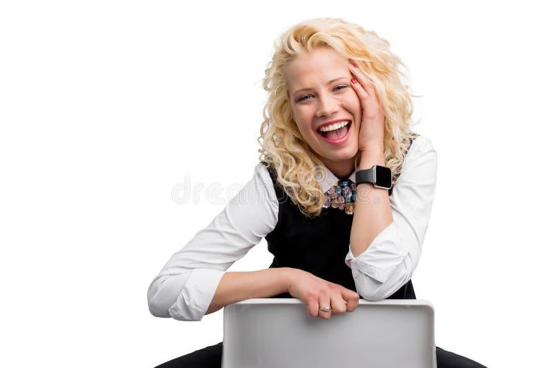 Stående av lyckligt le för kvinna arkivbilder
