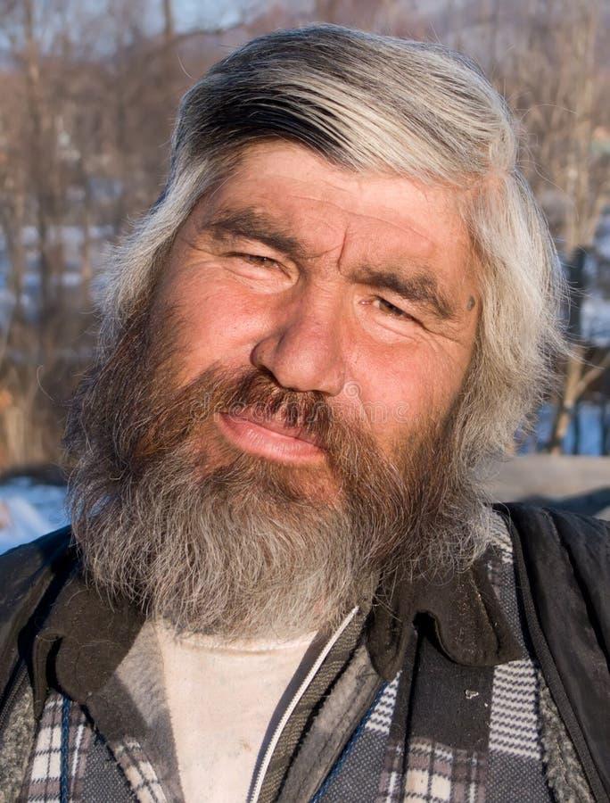 Stående av manen med skägg 23 fotografering för bildbyråer