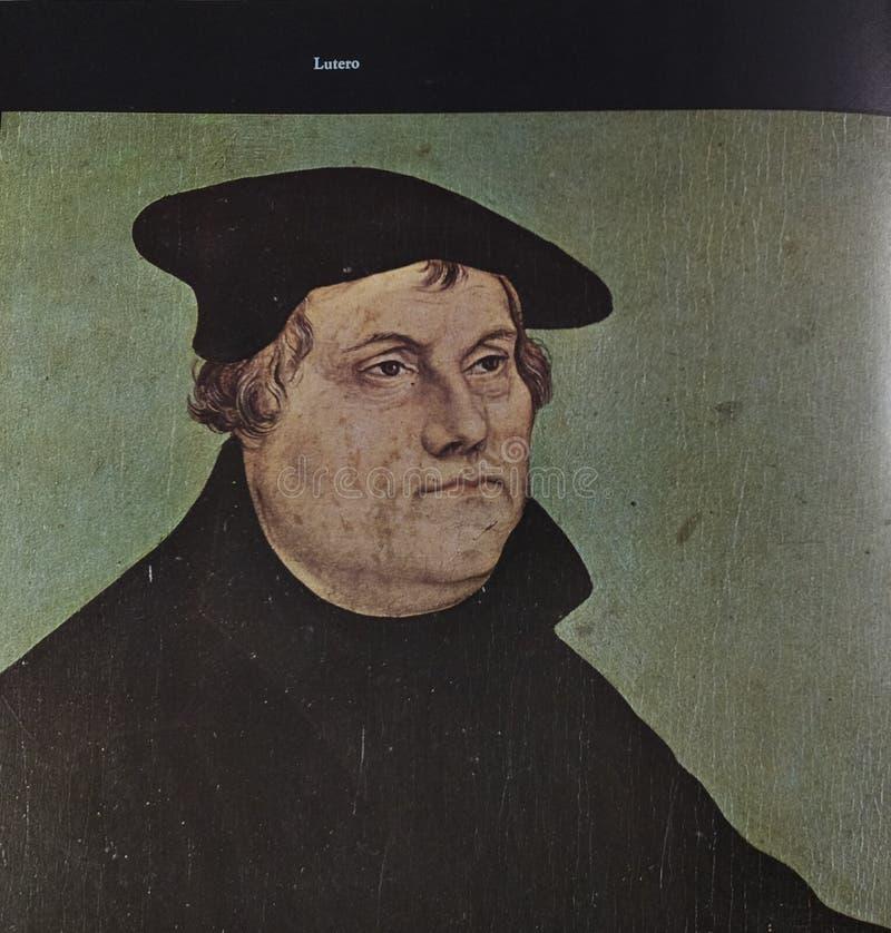 Stående av Martin Luther royaltyfri foto