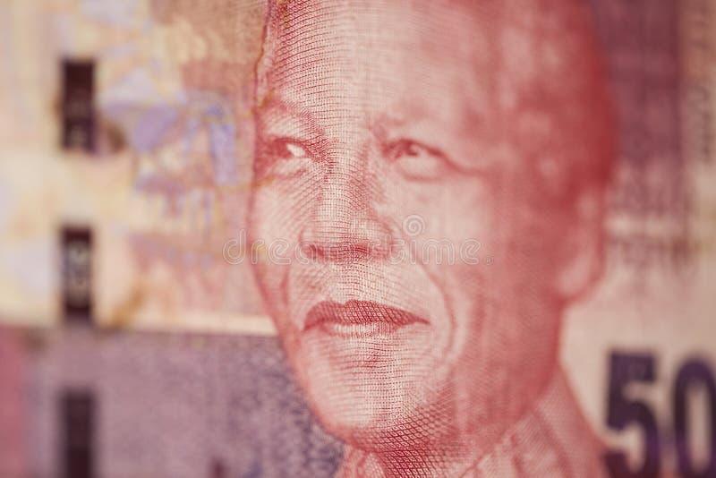 Stående av Nelson Mandela på rand 50 royaltyfri foto