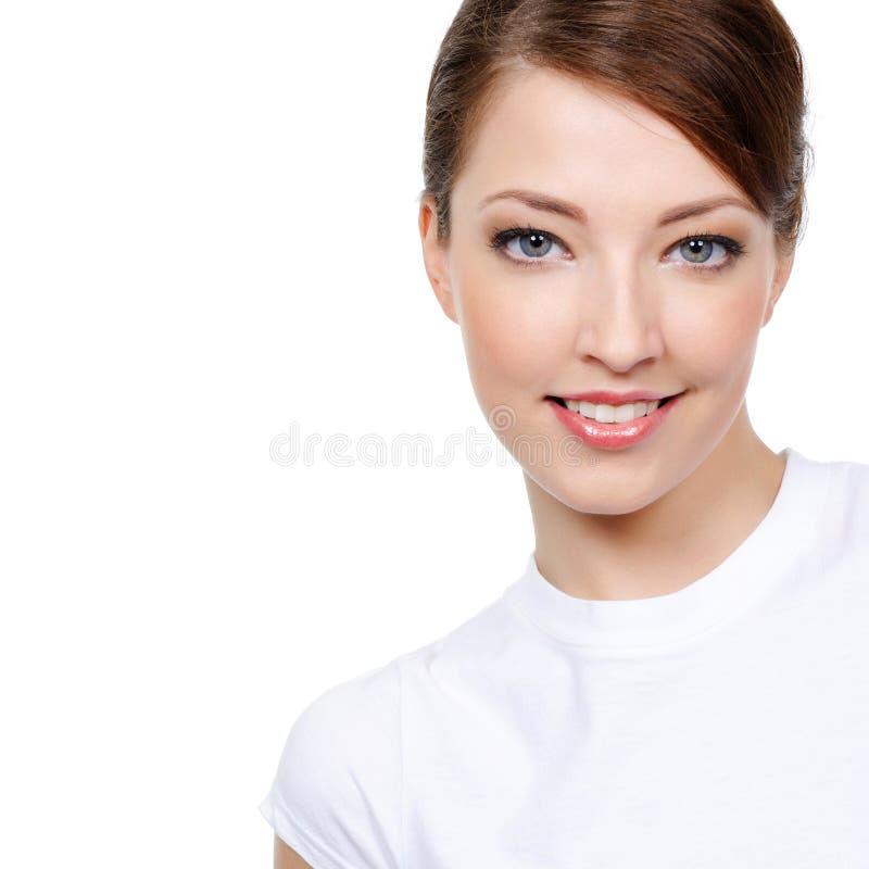 Stående av skönhetkvinnan royaltyfri foto