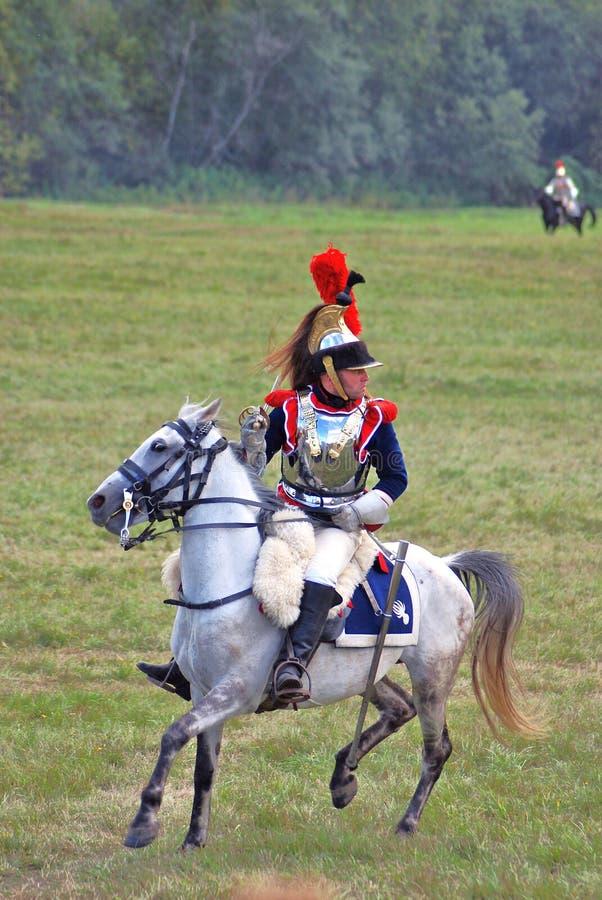 Stående av soldaten för Napoleonic krig (den franska armén) arkivbilder