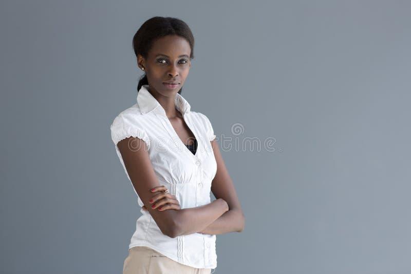 Stående av svart kvinna royaltyfria bilder