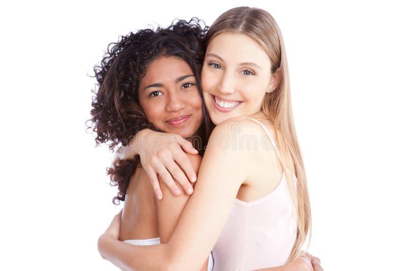 Stående av två kvinnor fotografering för bildbyråer