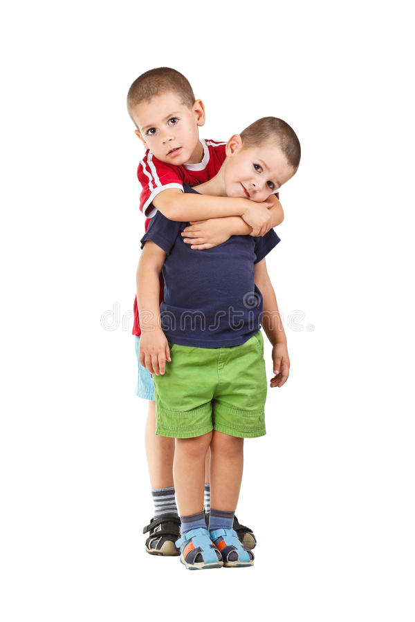 Stående av två pojkar arkivfoto