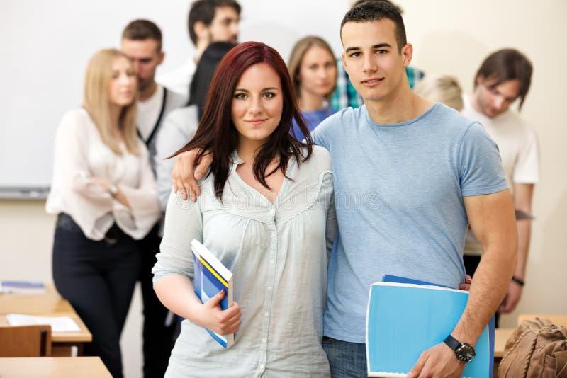 Stående av universitetsstudenter royaltyfria bilder