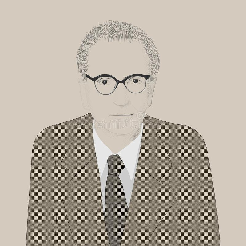 Stående av Viktor Emil Frankl stock illustrationer