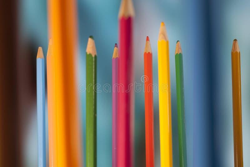 Stående blyertspennor arkivfoton