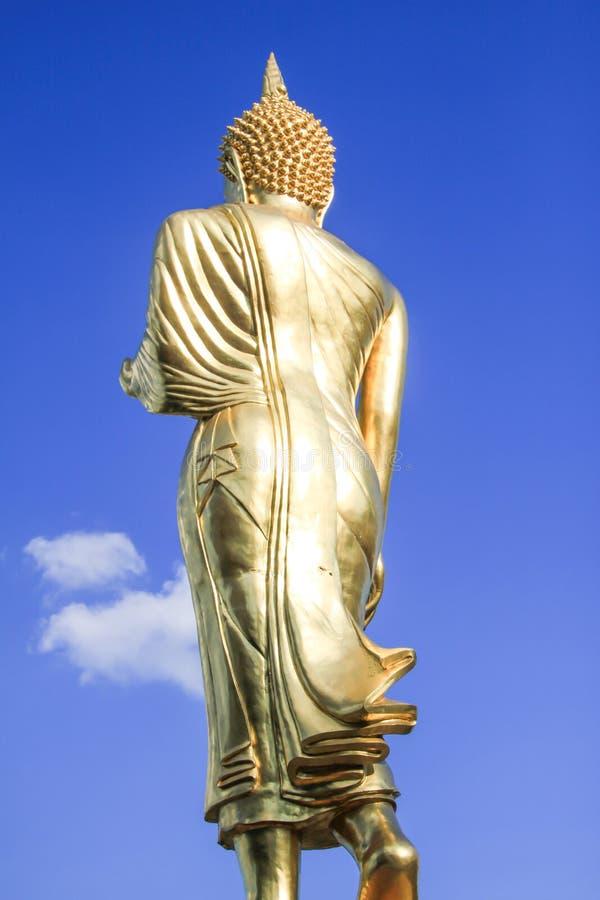 Stående buddha, NAN, Thailand arkivbild