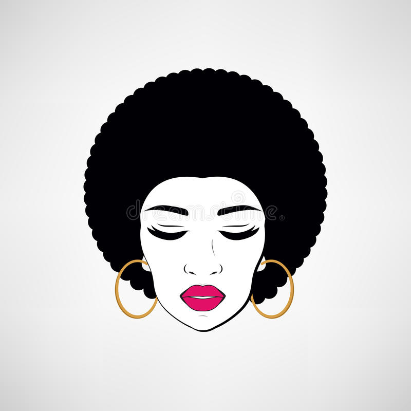 Stående för främre sikt av en svart kvinnaframsida arkivfoton