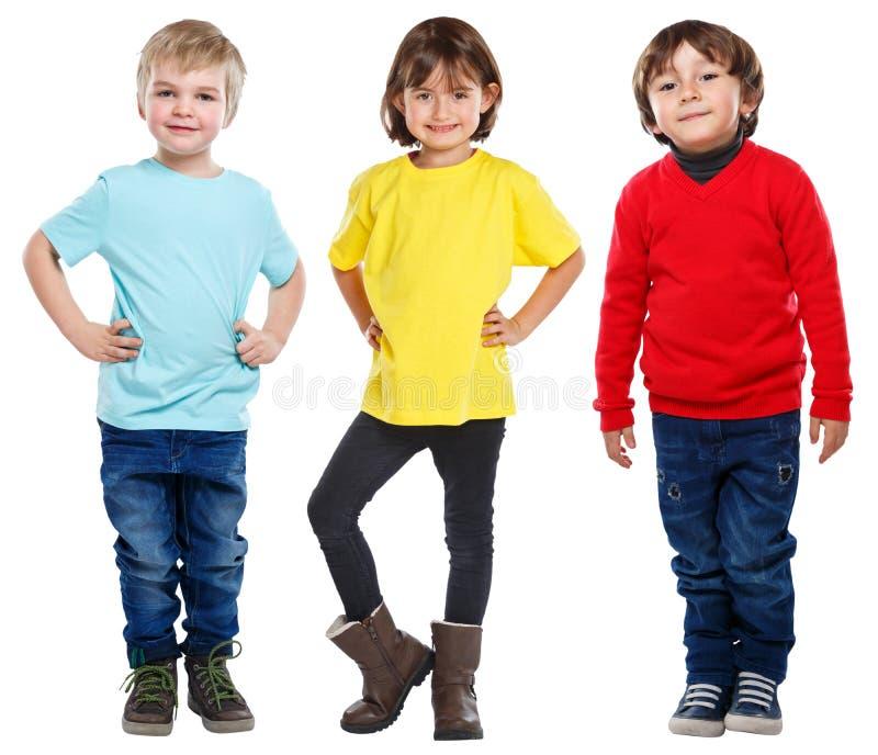 Stående för kropp för flicka för ungebarnpyser som full isoleras på vit arkivfoto