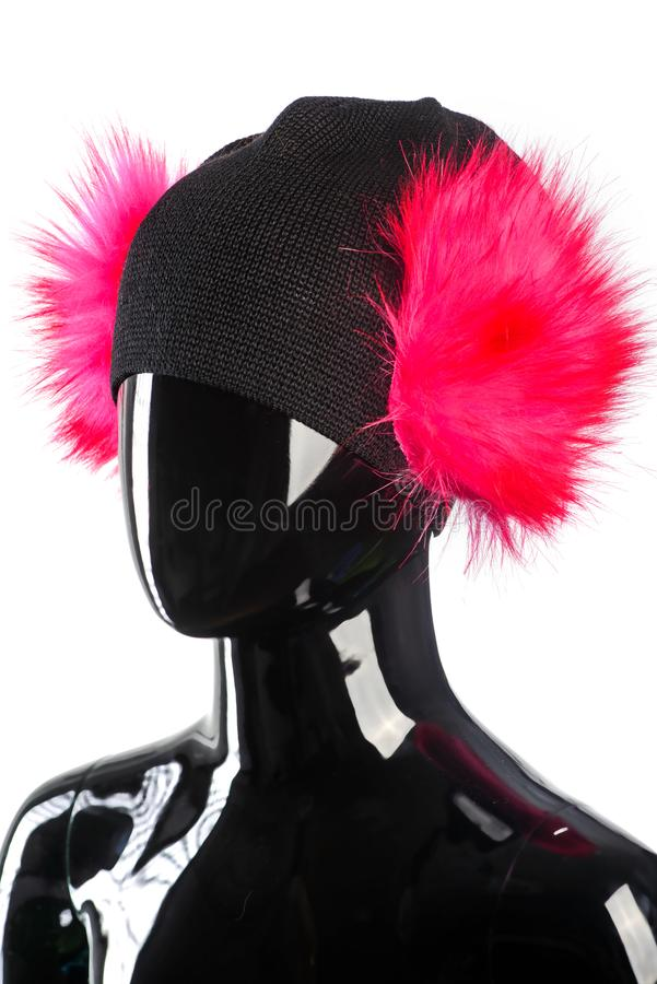 Stående för mode för vinterkläderkvinna royaltyfri foto