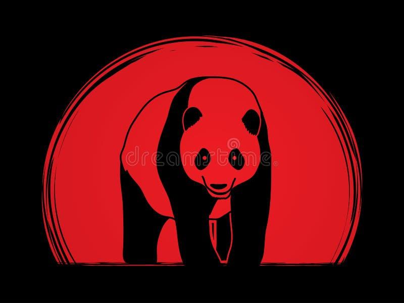 Stående grafisk vektor för panda vektor illustrationer