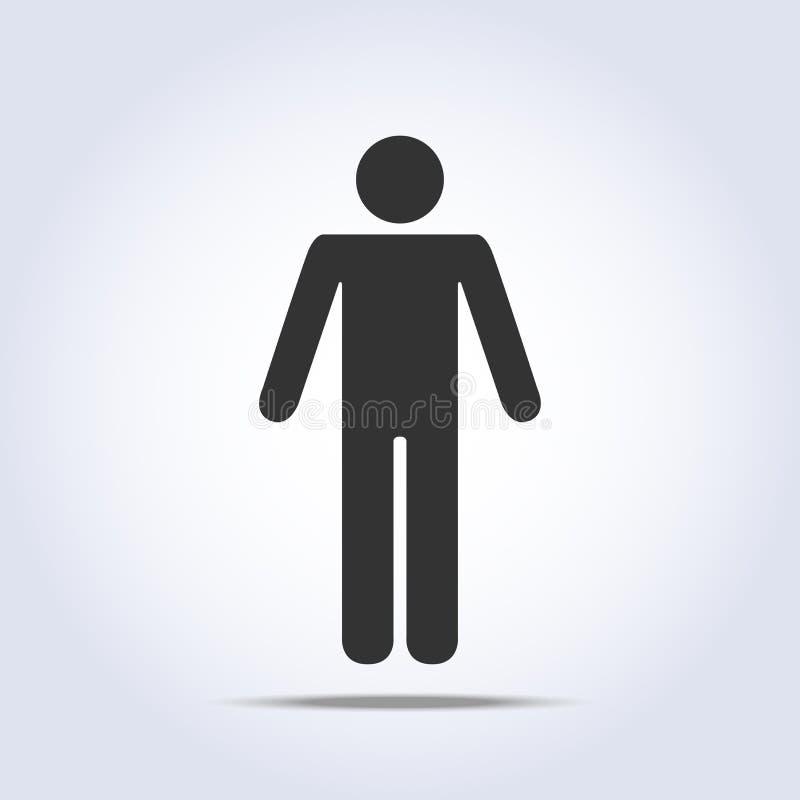 Stående mänsklig symbol också vektor för coreldrawillustration royaltyfri illustrationer