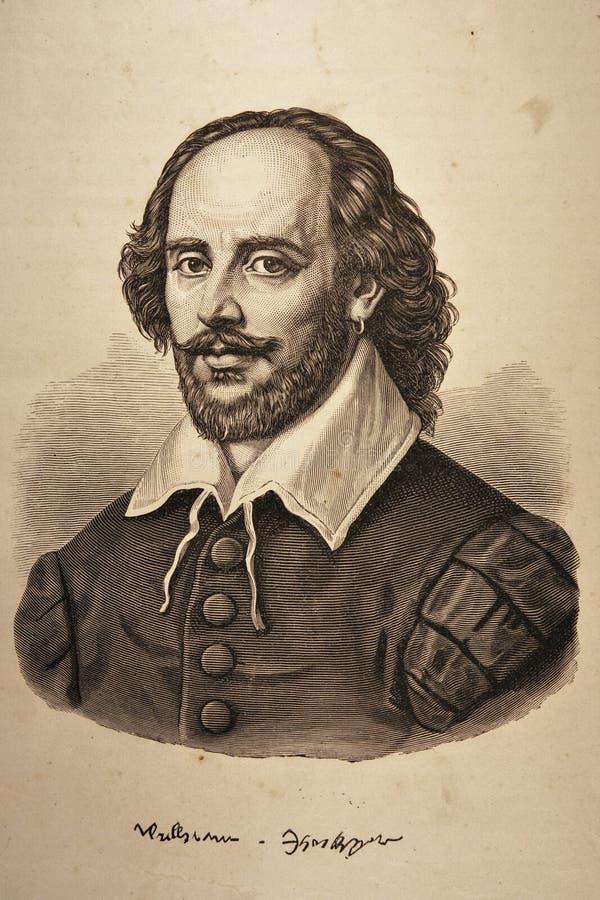 stående shakespeare william royaltyfri illustrationer
