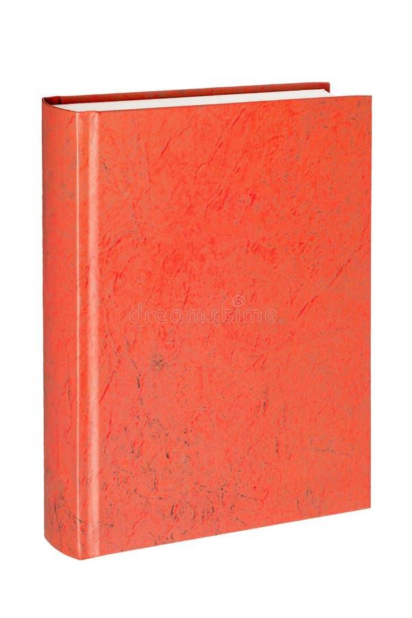 Stående stängd röd bok i vit bakgrund fotografering för bildbyråer