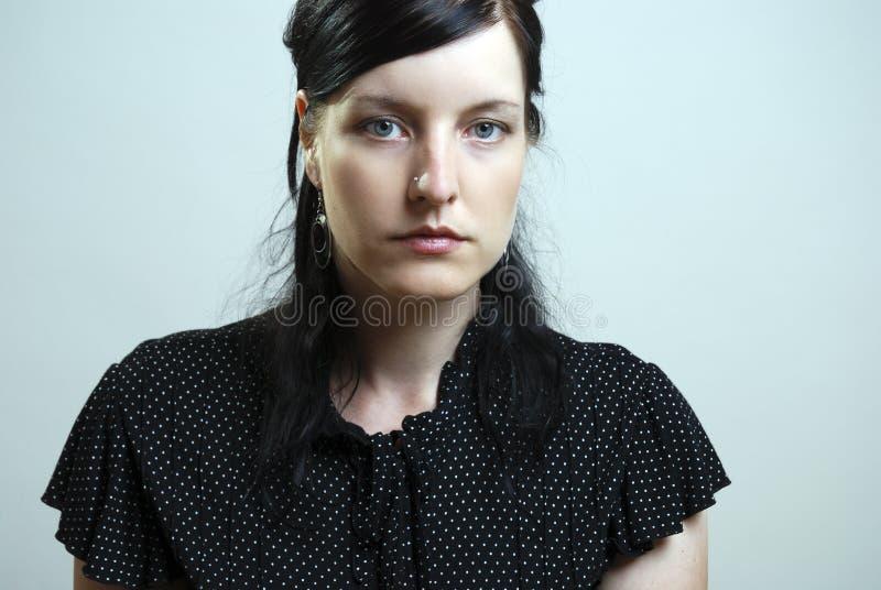 ståendekvinna royaltyfri foto