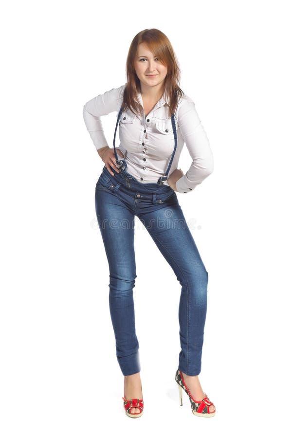 ståendekvinnabarn arkivfoton