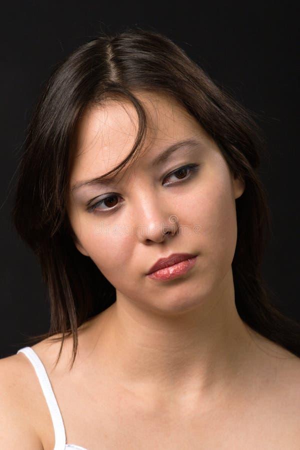 ståendekvinnabarn arkivfoto