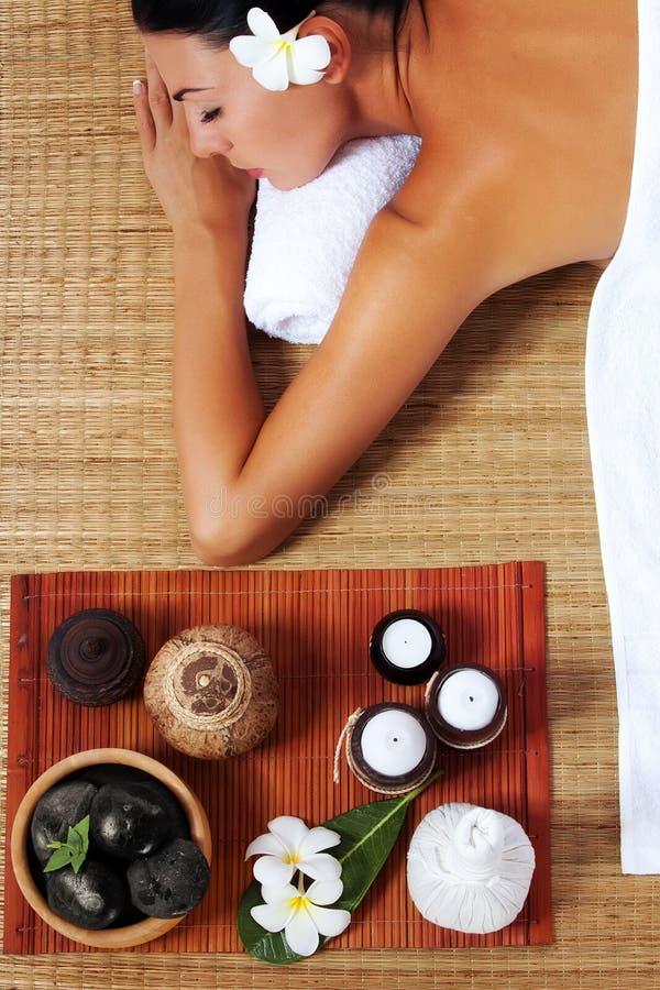 På massage royaltyfri bild