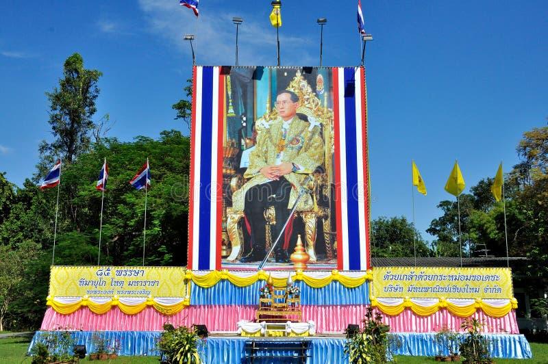 Thailändsk konung 85. födelsedag royaltyfri bild