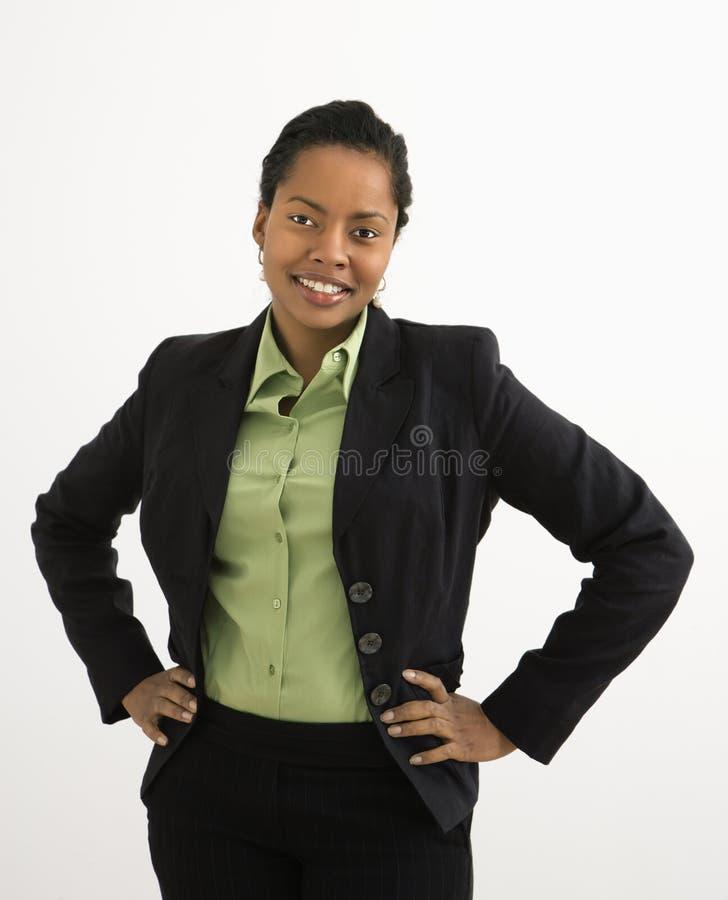 ståendeprofessionellkvinna arkivbild