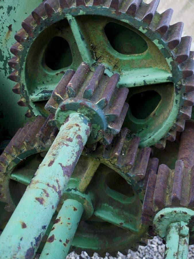 stål för maskineri för kuggekugghjulgreen royaltyfria bilder