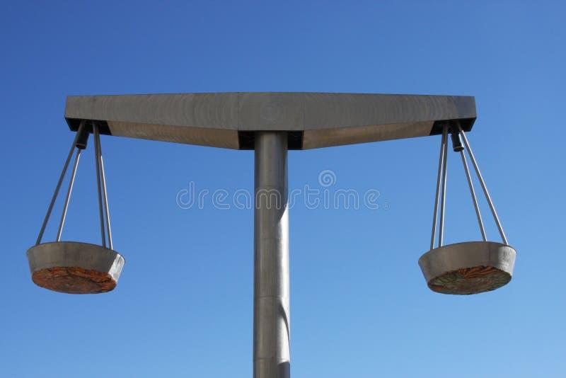 stål för scales för jämviktsrättvisa perfekt arkivbild