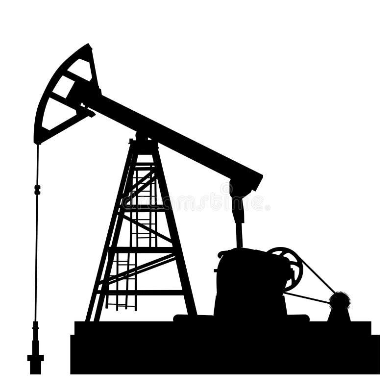 Stålar för olje- pump. stock illustrationer