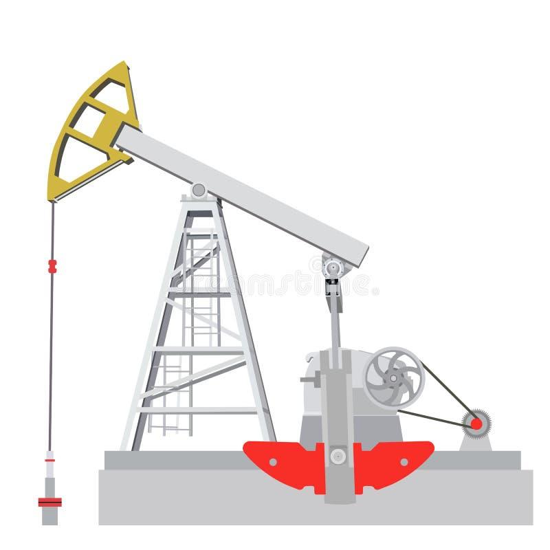 Stålar för olje- pump. royaltyfri illustrationer