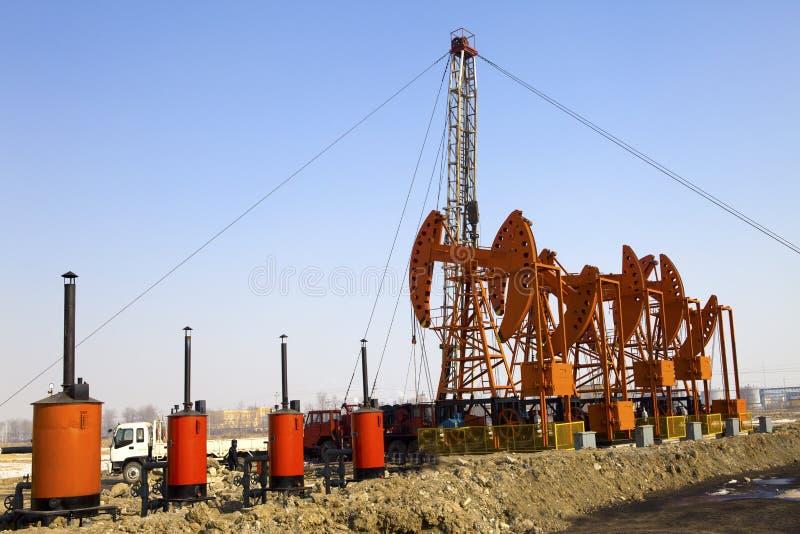 Stålar för olje- pump fotografering för bildbyråer