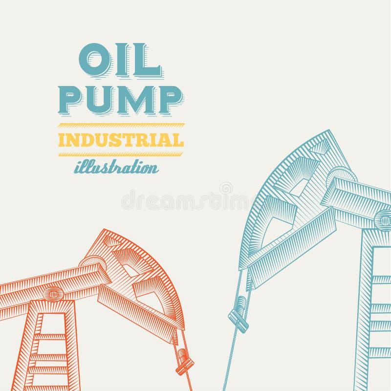 Stålar för olje- pump. vektor illustrationer