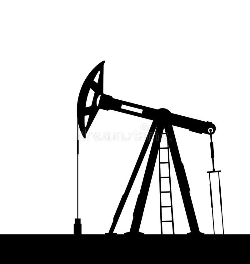 Stålar för olje- pump för oljor som isoleras på vit bakgrund stock illustrationer