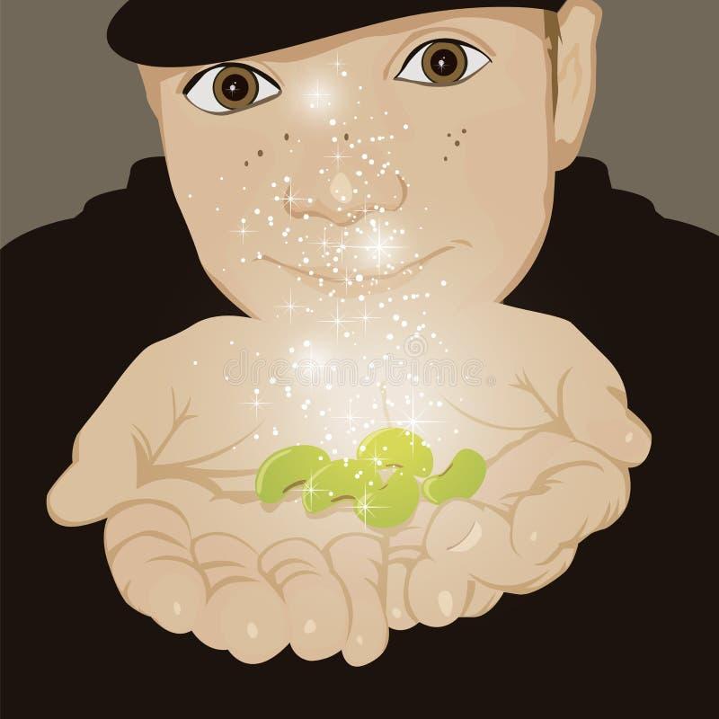 Stålar och bönor vektor illustrationer