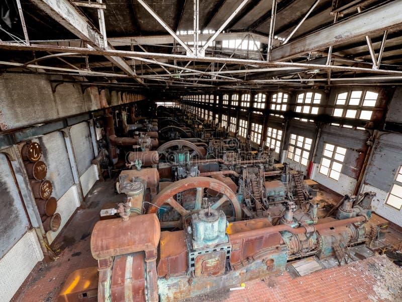 Stålfabrik i Betlehem PA royaltyfri bild