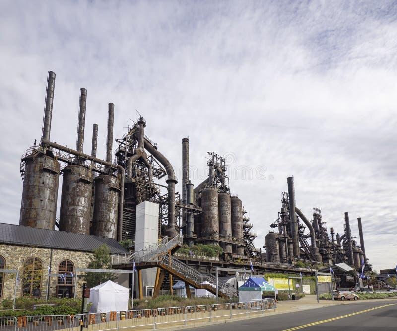 Stålfabrik som står fortfarande i Betlehem PA royaltyfria bilder