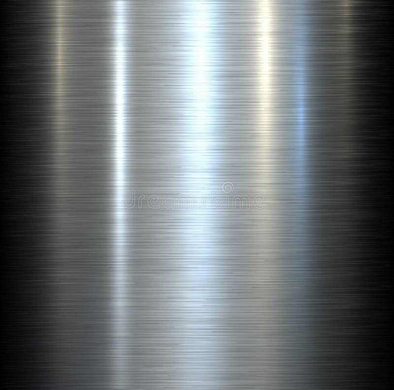 Stålmetallbakgrund vektor illustrationer
