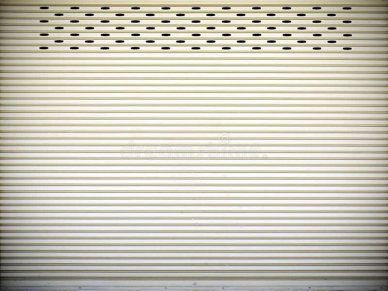 Stålsätta glidningsdörrar, textur för dörr för glidbana för metallark arkivfoton
