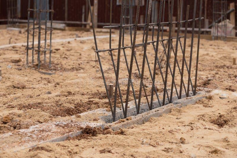 Stålstång för struktur av byggnadskonstruktion arkivbilder