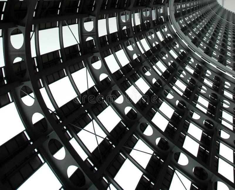 stålstruktur arkivfoto
