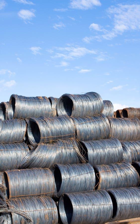 ståltråd fotografering för bildbyråer