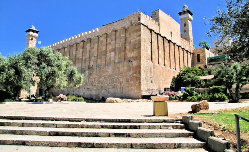 Ståndpunkt för Hebron i Israel arkivbild