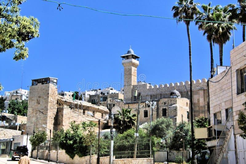 Ståndpunkt för Hebron i Israel arkivbilder