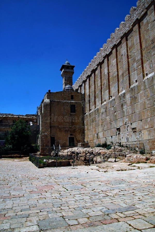 Ståndpunkt för Hebron i Israel royaltyfria foton