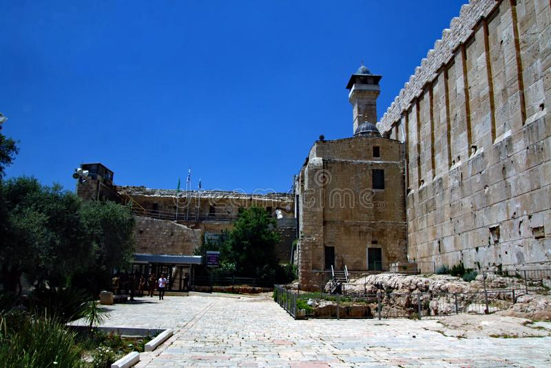 Ståndpunkt för Hebron i Israel arkivfoto