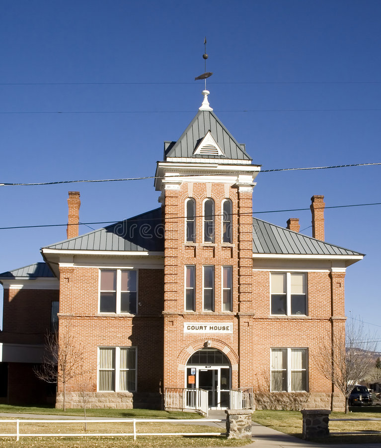 ståndsmässig domstolsbyggnad garfield arkivfoto