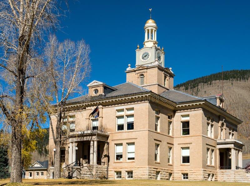 Ståndsmässig domstolsbyggnad, Silverton, Colorado arkivbilder
