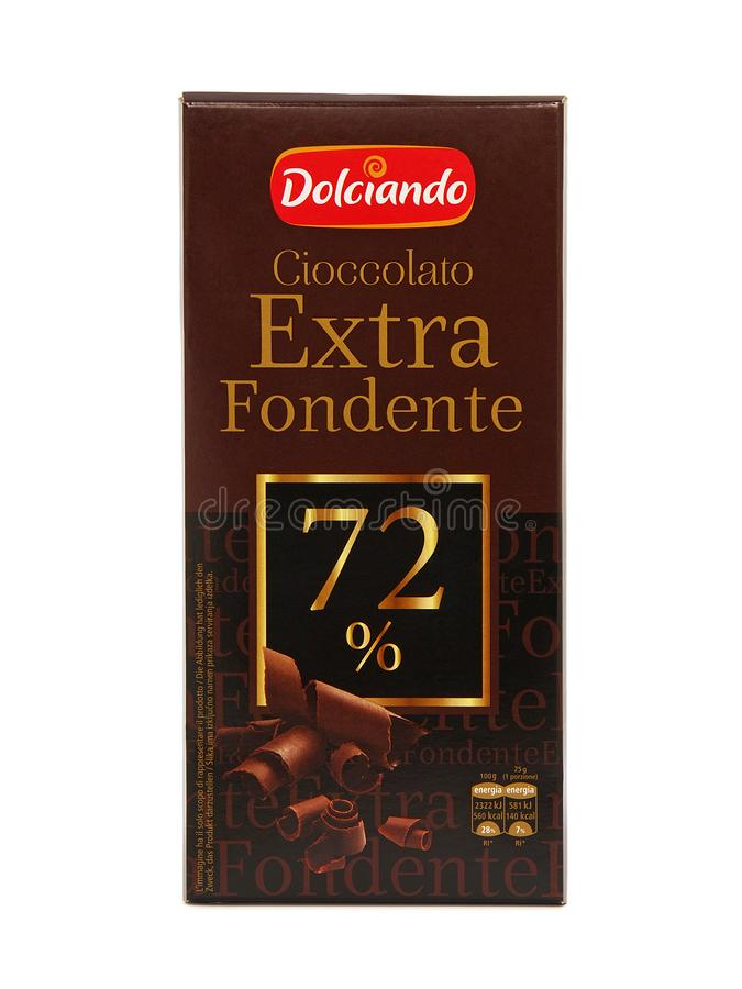 Stång för Dolciando extrahjälpFondente choklad royaltyfri foto